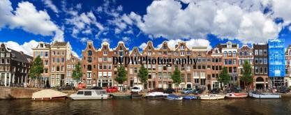Amsterdam Canal Panorama