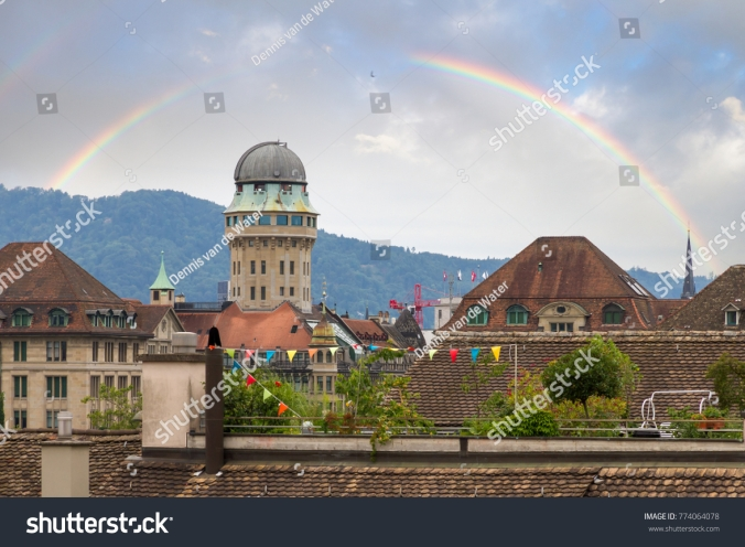 stock-photo-beautiful-cityscape-looking-towards-the-urania-sternwarte-observatory-telescope-in-zurich-774064078